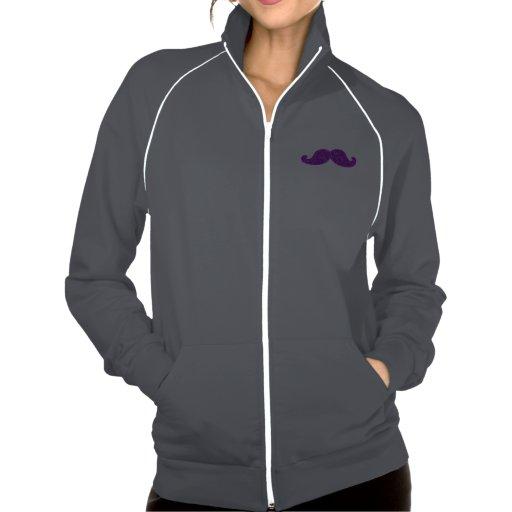 Girly fun retro mustache purple glitter jacket