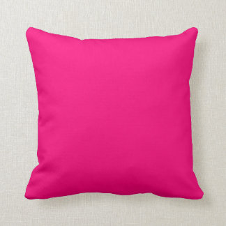 Girly Fushia Hot Pink Custom Friendly Background Throw Pillows