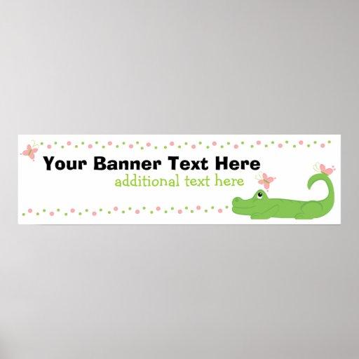 Girly Gator Banner Poster