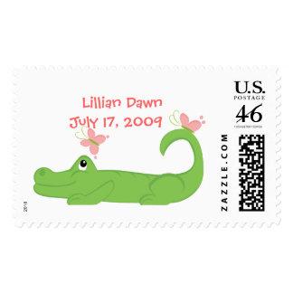 GIrly Gator Postage Stamp