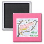 Girly Gecko Fridge Magnets