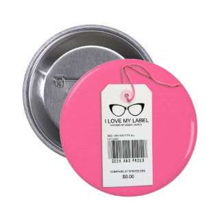 Girly Geek Tag Button