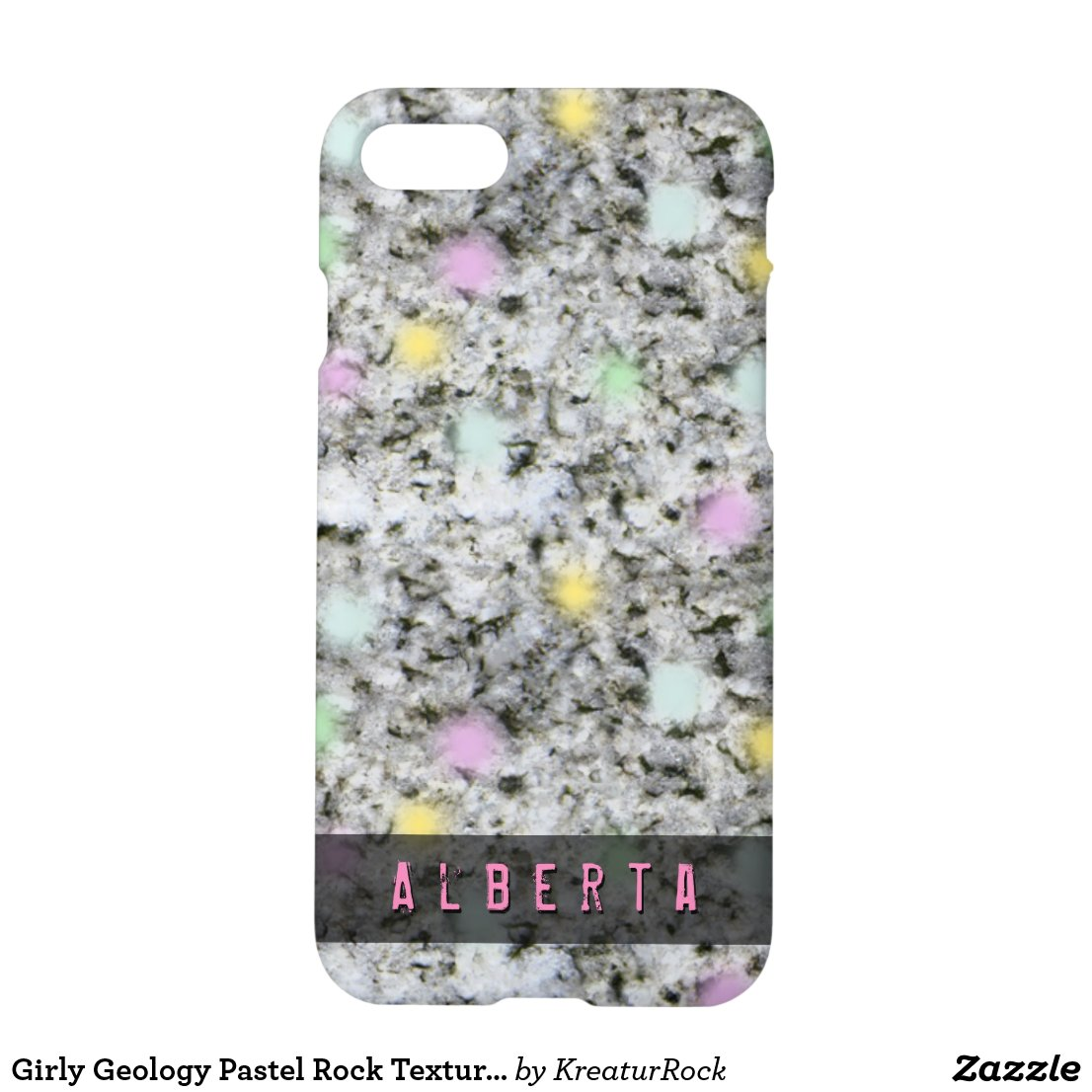 Girly Geology Pastel Rock Texture Custom Name