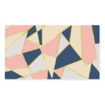 Girly Geometric Triangles with Faux Gold Double-Sided Standard Business Cards (Pack Of 100)
