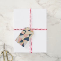 Girly Geometric Triangles with Faux Gold Gift Tags