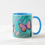 """Girly Gift! Butterfly Mug, Add NAME! Mug<br><div class=""""desc"""">Check out my other MATCHING BUTTERFLY ITEMS!  Search """"Butterfly"""" here on zazzle at kfwinters! Please like or share!  Thanks!</div>"""