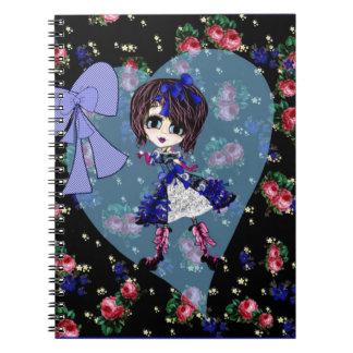 Girly Gifts Harajuku Girl style Notebook