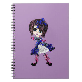 Girly Gifts Harajuku Girl style Spiral Notebooks