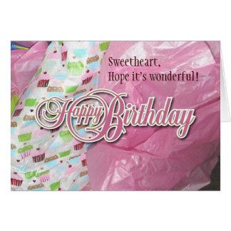 Girly Girl 2 cupcake Blank Card