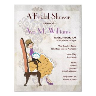 "Girly Girl Bridal Shower Invitation 4.25"" X 5.5"" Invitation Card"