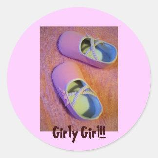 Girly Girl!! Classic Round Sticker