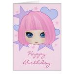 Girly Girl Marianne Birthday Card