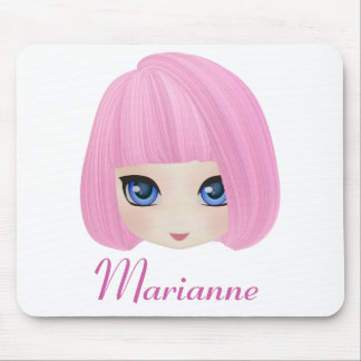 Girly Girl Marianne Custom Mousepad