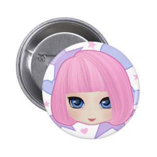 Girly Girl Marianne Party Button