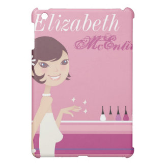 Girly Girl Nail Salon Personalized iPad Mac Case Case For The iPad Mini