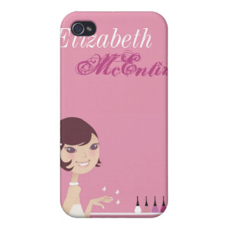 Girly Girl Nail Salon Personalized iPhone 4 Case