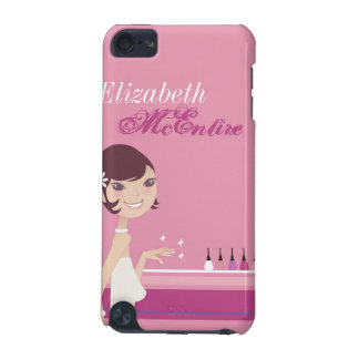 Girly Girl Nail Salon Personalized iPod Touch Case