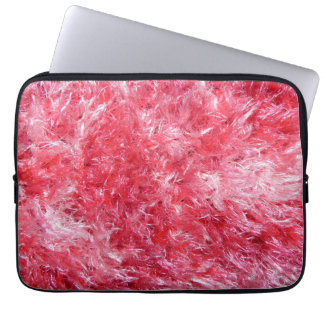 Girly Girl - Pink Faux Fur Laptop Computer Sleeve