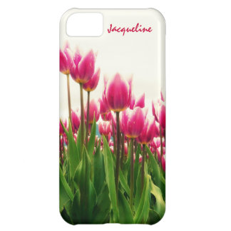 Girly Girl - Pretty Pink Tulips - Personalized! iPhone 5C Cover