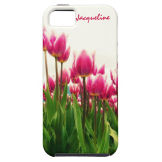 Girly Girl - Pretty Pink Tulips - Personalized! iPhone SE/5/5s Case