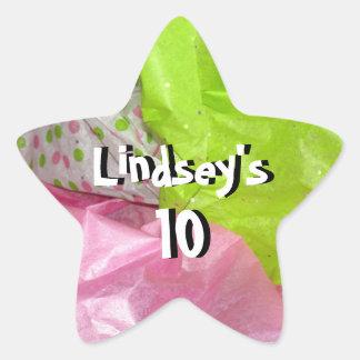 Girly Girl Star Sticker