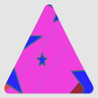 Girly Girl Stars Triangle Sticker