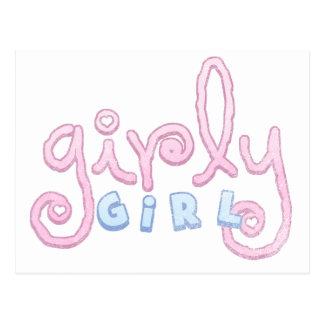 Girly Girl T Shirts & Gifts Postcard
