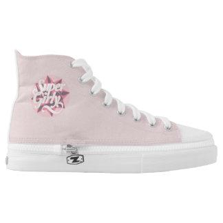 Girly Girl ZIPZ High Top Shoes, US Women 6.5