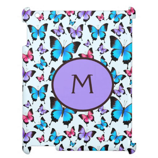 Girly Girlie Whimsical Butterflies Butterfly Case For The iPad