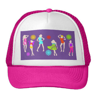 Girly girls fashion models trucker hat
