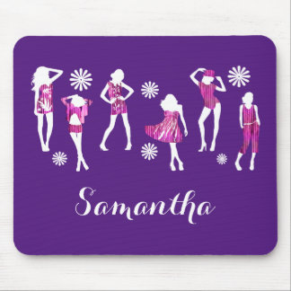 Girly girls fashion models mouse pad