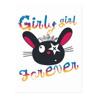 Girly Girls Forever Kids Postcards