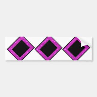 Girly Glam Black with Sparkly Pink Glitter Frame Bumper Sticker