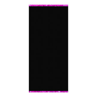 Girly Glam Black with Sparkly Pink Glitter Frame Rack Card Template