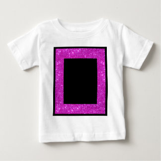 Girly Glam Black with Sparkly Pink Glitter Frame T-shirt