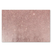 Girly Glam Pink Rose Gold Foil and Glitter Mesh Tissue Paper