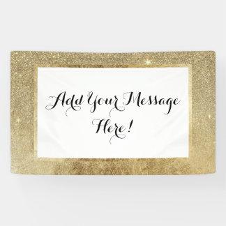 Girly Glamorous Gold Foil and Glitter Mesh Banner