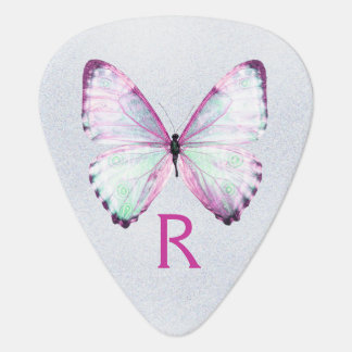 Girly Glitter and Butterfly Guitar Pick