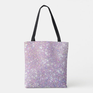 Girly Glitter Pink Purple All-Over Print Tote Bag
