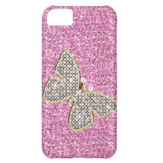 Girly Glitter with Butterfly iPhone 5C Covers