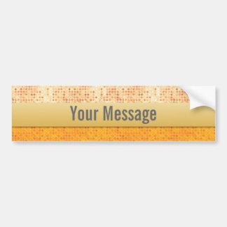 Girly Glittery Orange Polka Dot Car Auto Sticker Bumper Stickers