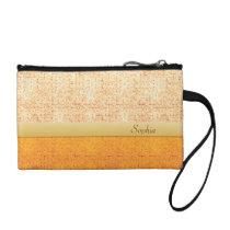 Girly Glittery Orange Polka Dot Key Coin Bag Coin Purses at  Zazzle