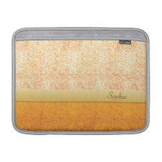 Girly Glittery Orange Polka Dot Macbook Air 13 Macbook Sleeve at Zazzle