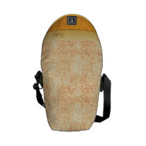 Girly Glittery Orange Polka Dot Mini Messenger Bag at Zazzle