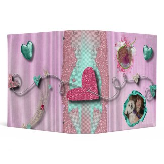 girly glitz notebook binder