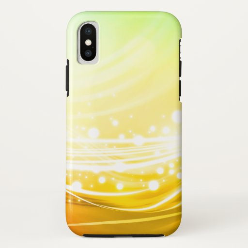 Girly Golden Green Bokeh Lights iPhone Case