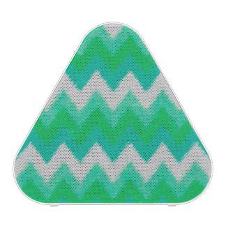 Girly Green and White Bohemian Chevron Pattern Bluetooth Speaker