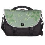 Girly Green Floral Laptop Bag Laptop Bags