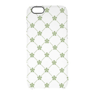 Girly Green Floral Pattern Stylish Little Flowers Clear iPhone 6/6S Case