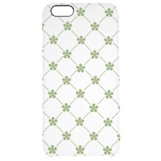 Girly Green Floral Pattern Stylish Little Flowers Clear iPhone 6 Plus Case